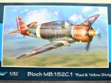 "1/32 AZUR BLOCH MB.152C.1 ""RED & YELLOW STRIPES"""